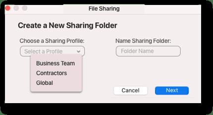Sharing Profile