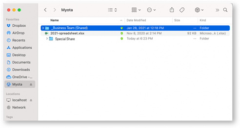 Sharing Profile folder