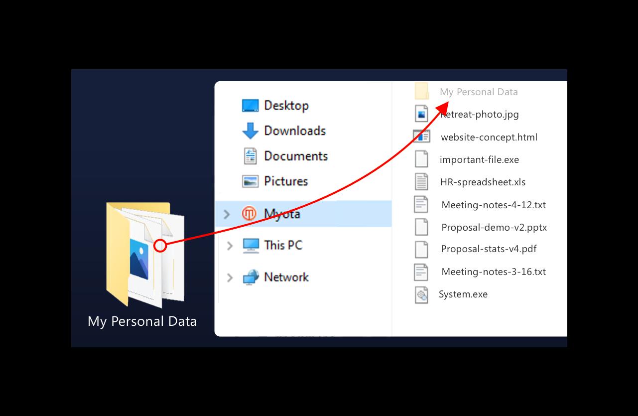 Start Adding Files To Myota